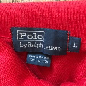 Polo by Ralph Lauren Shirts - RALPH LAUREN BIG PONY POLO SHIRT MENS Large L RED